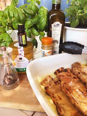 Pollo marinato al miele e lime